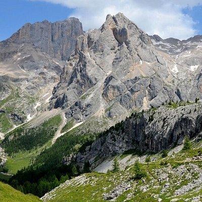 Cime d'Ombretta e Marmolada dalla Val Contrin