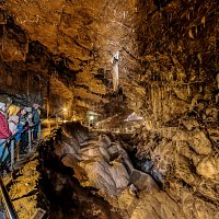The 100 m long main Chamber and the Longest Stalactite in the region