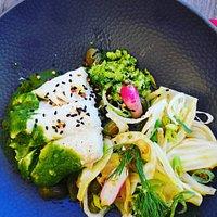 Dos de lieu noir Gomasio Espelette, brocolis, fenouil, cébettes  Et Lumaconi persil-ail de chez JeanJean