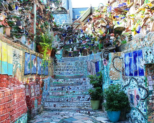 Philadelphia's Magic Gardens is a nonprofit museum that features the mosaic work of Isaiah Zagar.