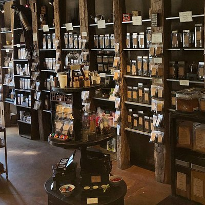 We have over 140 loose-leaf teas and herbal blends.  There is something for everyone.  We will make you a hot or iced tea while you shop!