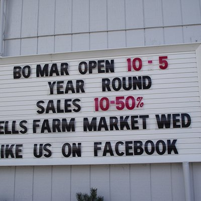 ME - WELLS - BO-MAR - SIGN ON BUILDING