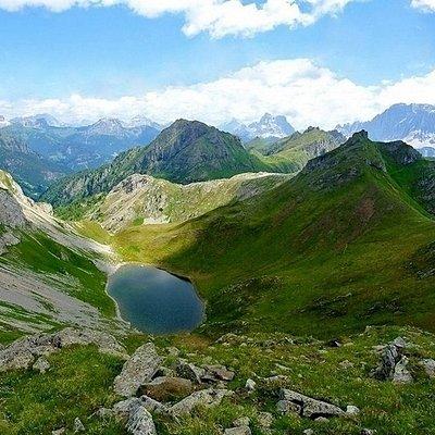 Il lago dalla Forcella  Lech dei Giai