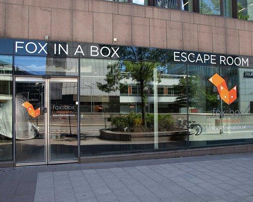Fox in a Box Escape Room entrance at Sveavägen  14, Stockholm