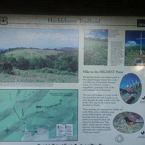 Huckleberry Knob Trail Sign