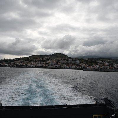 View back to Horta (Faial)