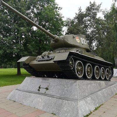 Легендарная Т-34-ка на Мемориале воинской Славы в Королёве.