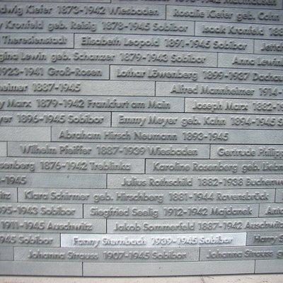 Gedenkstätte: Synagoge am Michelsberg in Wiesbaden... Namensauflistung.................