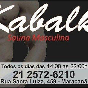Kabalk Sauna Rio de Janeiro, RJ, Brazil Aberto Todos os Dias das 14 horas até as 22 horas. Valor da Entrada R$ 40,00. Informações: (21)2572-6210 Proibido a entrada de menores de 18 anos