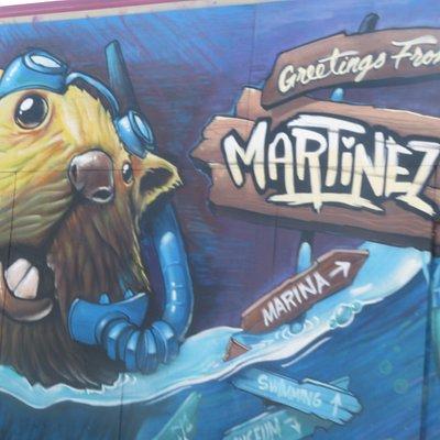 Wall Mural, Contra County Historical Society, Martinez,  CA
