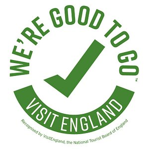 """""""We're Good To Go"""" is the official UK mark to signal that a tourism and hospitality business has worked hard to follow Government and industry COVID-19 guidelines and has a process in place to maintain cleanliness and aid social distancing."""