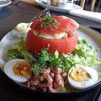 Sublieme tomaat-garnaal