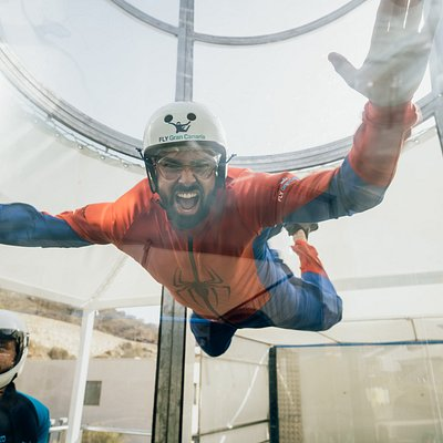 Spider Man Learning to fly at Fly Gran Canaria