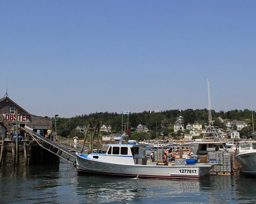 View of the property while fisherman are unloading the days catch.