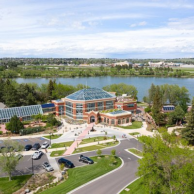 Aerial view of the Cheyenne Botanic Gardens Grand Conservatory