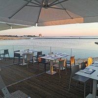 terrazza sul mare per godere i fantastici colori del tramonto