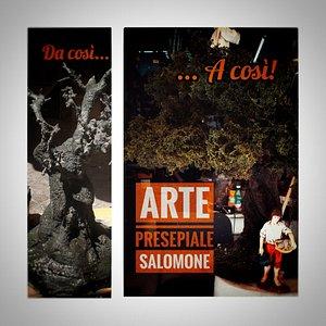 Lavorazione di un ulivo secolare per scenografie presepiali. Realizzato a mano nella nostra bottega artigiana a Napoli.