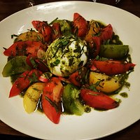 Tomates anciennes, Buffala, basilic