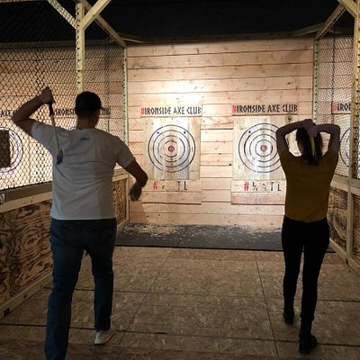 Axe Throwing At Ironside Axe Club Oskaloosa makes a great Friday or Saturday Date night.