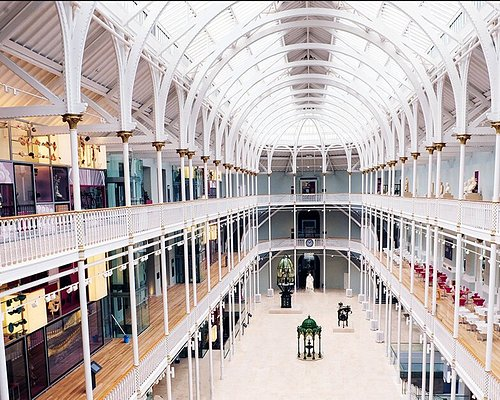 With its soaring pillars and high windows, the light-filled atrium of the Grand Gallery is one of Scotland's most beautiful spaces.