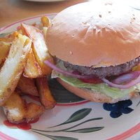 Hamburger and Fries. Classic and delicious.