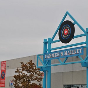 The main entrance into our Farmer's Market and Food court featuring over 25 International Food Court Vendors!