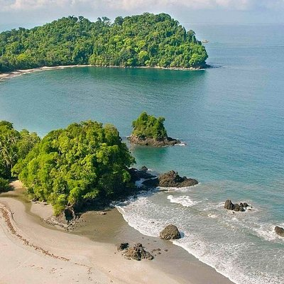 Aerial view of Manuel Antonio National Park on the Central Pacific Coast