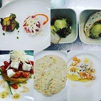 La tartare, le zucchine, il risotto, i pomodorini...