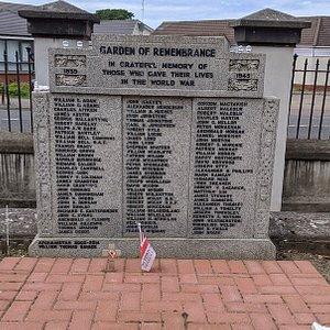 Ardrossan WW2 Garden Of Remembrance