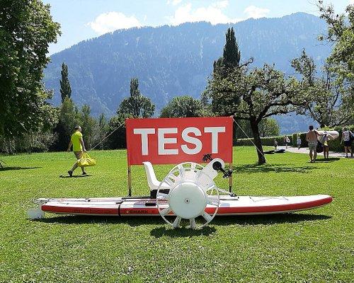 Möchten sie ein cooles Alligator Waterbike testen? Eine Neuheit von Inventra AG zum Ausprobieren in Thun, Lachen, 8. August 2020, 13 - 17 Uhr