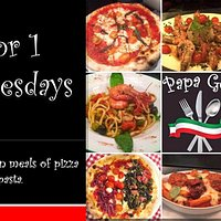 2 for 1 Every Wednesday