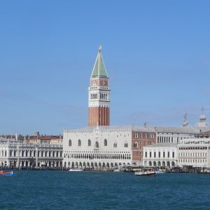 the expanse of lagoon by the doge's palace