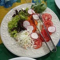 Saladas muito deliciosas.
