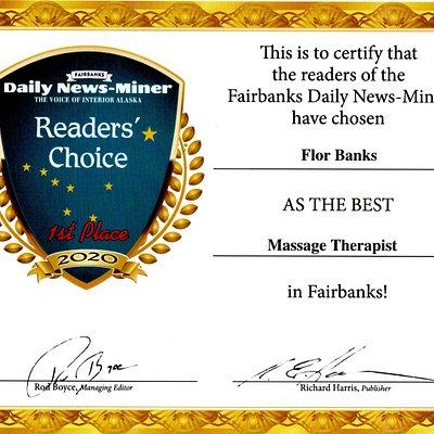 Best Massage Therapist, Fairbanks AK