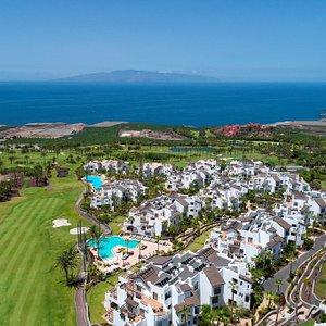 Aerial view of Abama Golf and Las Terrazas de Abama