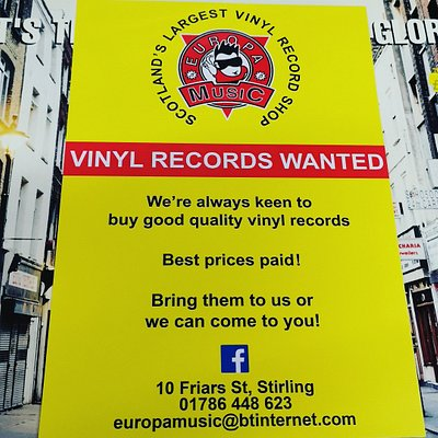 Yes we Buy, Sell and Exchange Vinyl Records of all sorts . Europa is the Largest vinyl record shop in Scotland