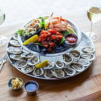 The Bobby dazzler...oysters, tuna tartare, shrimp and ceviche. We really want to serve you one of these.