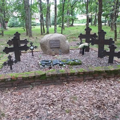 Dawny cmentarz ewangelicki wsi Krępa