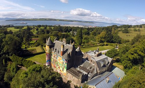 Kelburn by the coast. The estate offers incredible views across the Firth of Clyde.