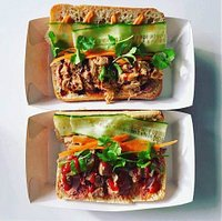 Pork & chicken banh mi