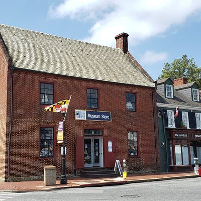 The Historic Annapolis Museum Store is located in the historic building at 77 Main Street in Annapolis.