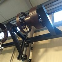 Vintage collection of olive pressing machinery