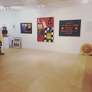 The ground floor gallery at Redwing gallery.