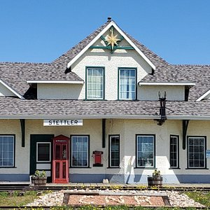 The CN Train Station built in 1911. houses several artifacts but still has intact the original rooms and floors.