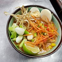 Our Spicy Thai Ramen dish on the A la carte menu available in the restaurant