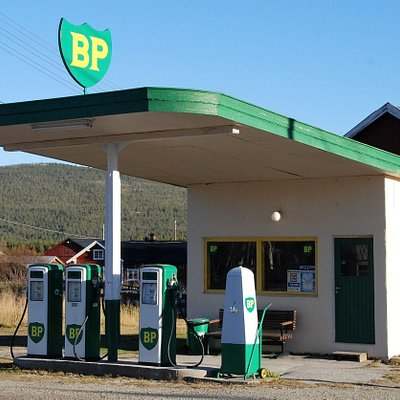 A retro BP gas station from circa 1960.