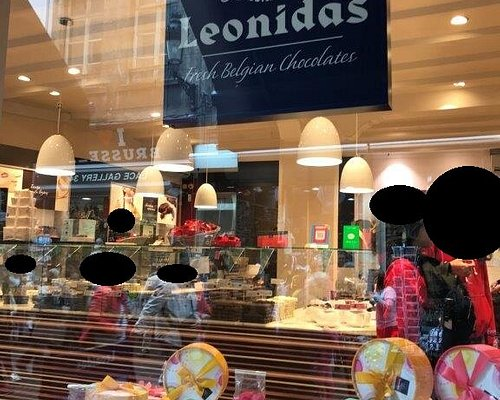 Leonidas Chocolatte vyroba cokolady Brussel Belgien, Belgicko