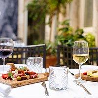 Laganini restaurant - cheese and proscioutto