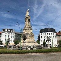 Monument Schelde Vrij Denkmal pomnik Antwerpen Belgien Belgicko