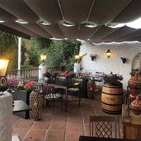 Outside cozy terrace